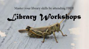Library Workshop Calendar: October 1st-7th 2016