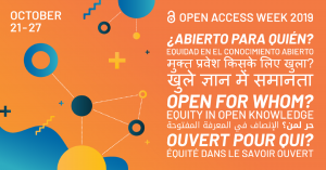 Welcome to Open Access Week 2019