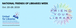National Friends of Library Week Banner