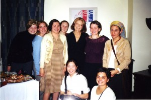 Members of the Feminist Forum with Gloria Steinum
