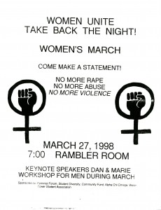 Take Back the Night Flyer, 1998
