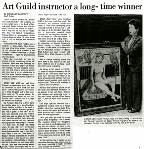 Article highlighting Fortner's achievements, 1981.