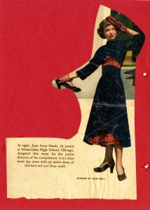 An outfit designed by Joan Heath Fortner at age 16, 1948