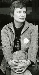 Carolyn Farrell after being elected to the Dubuque, Iowa City Council, 1977.