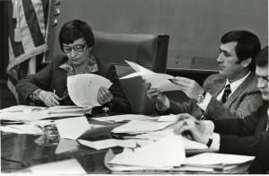 Carolyn Farrell as Mayor of Dubuque, Iowa, 1980.