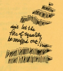 "Graphic from a publication ""Women Vote: Citizen Action Kit for People of Faith,"" 1984"