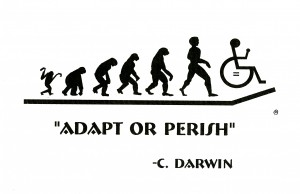 Designs for All created this sticker for the disabled to remind drivers why handicap parking spots existed.