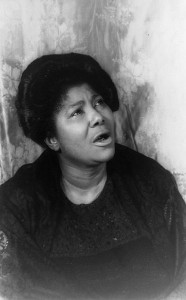 Mahalia Jackson, 1962. Photo taken by Carl Van Vechten.  Carl Van Vechten photograph collection, Library of Congress.