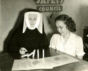 Sister Mary Carmelyn working with the Safety Council