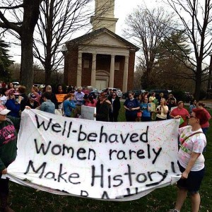 Protest at Sweet Briar.