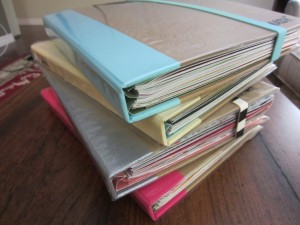 Graduate assistant Caroline Giannakopoulos archives the events of her life in scrapbooks.