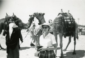 Mollie West in Israel in 1959.