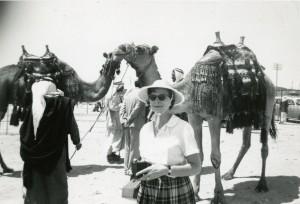 Mollie West in Israel in 1959.