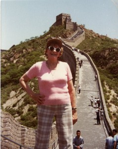 Mollie West on the Great Wall of China