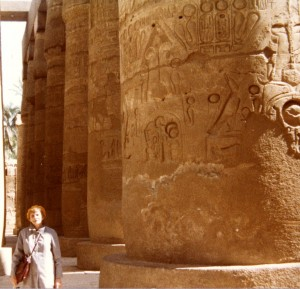 Mollie West in Egypt in 1983