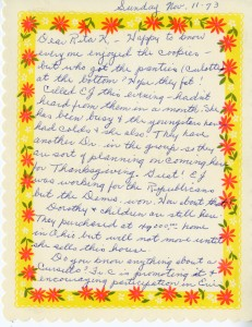 A letter from Agatha to Rita, found in the Agatha Rosetti Hessley Collection.