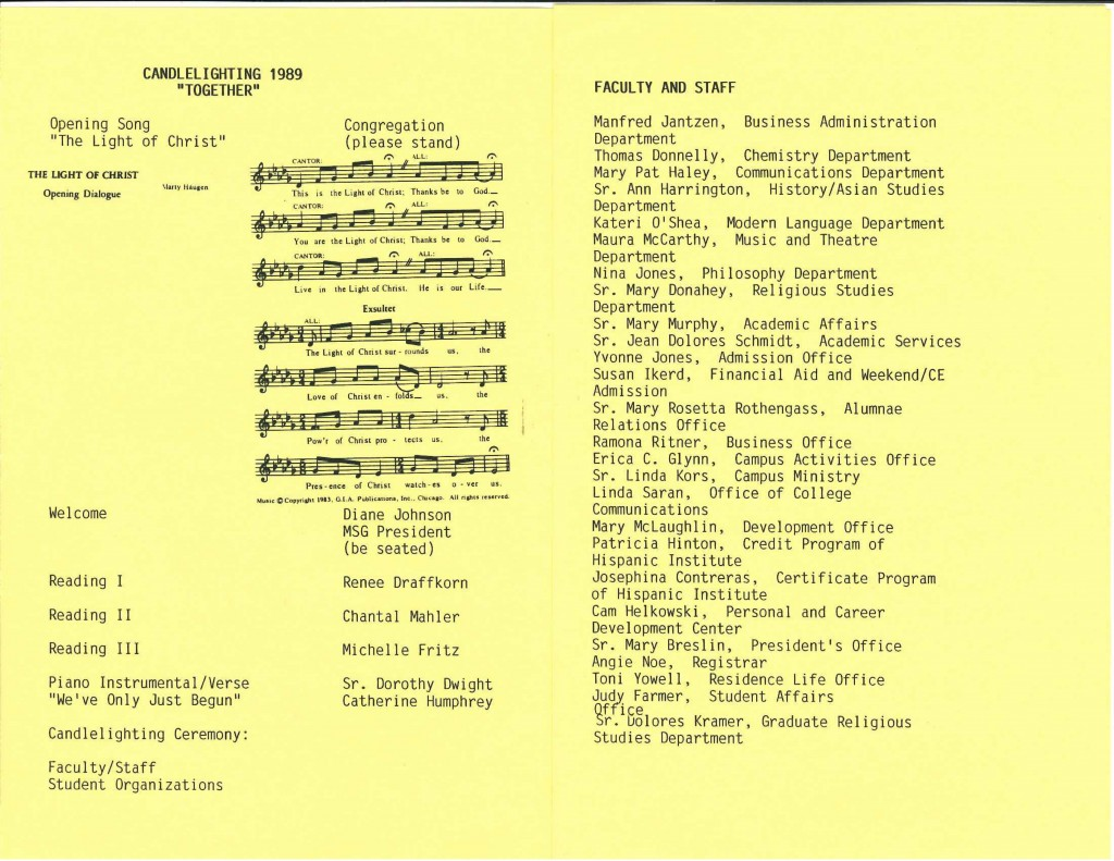 1989 program, pages 1 and 2