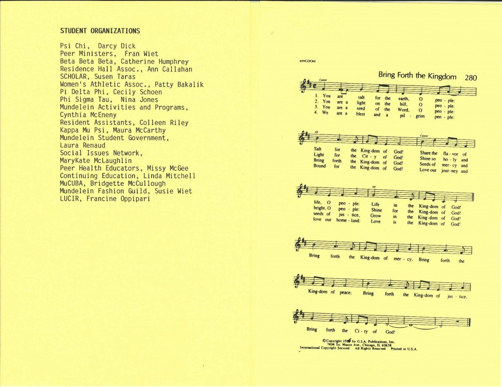 1989 program, pages 3 and 4