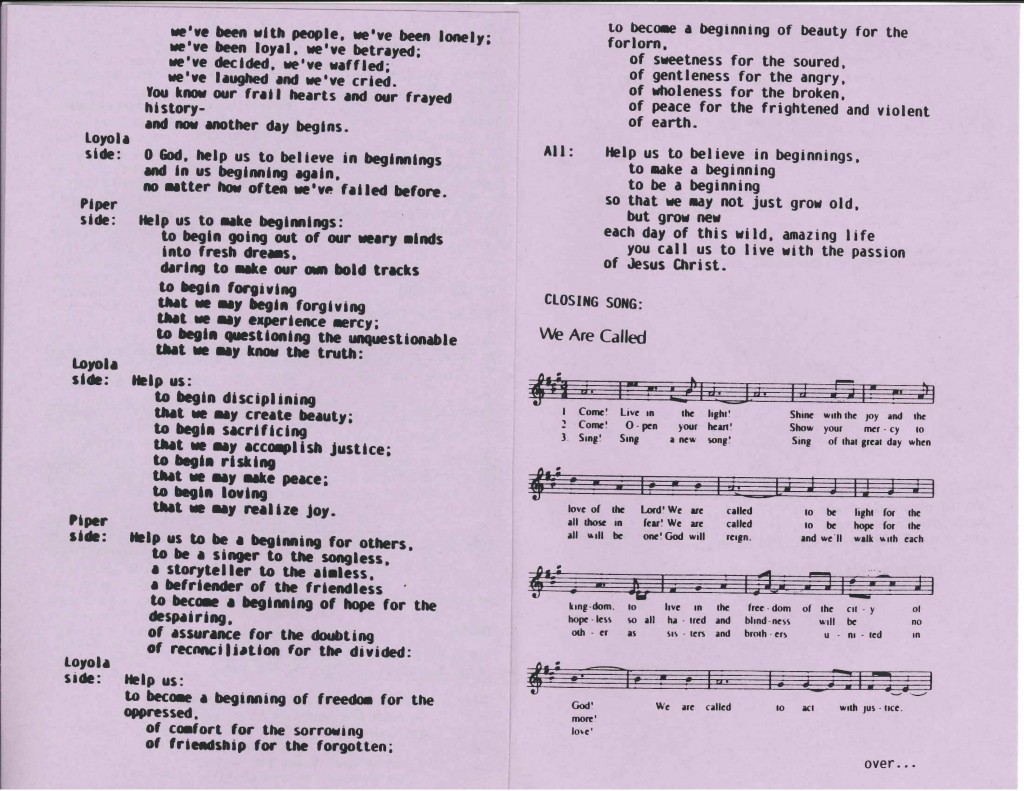 1991 program, pages 5 and 6