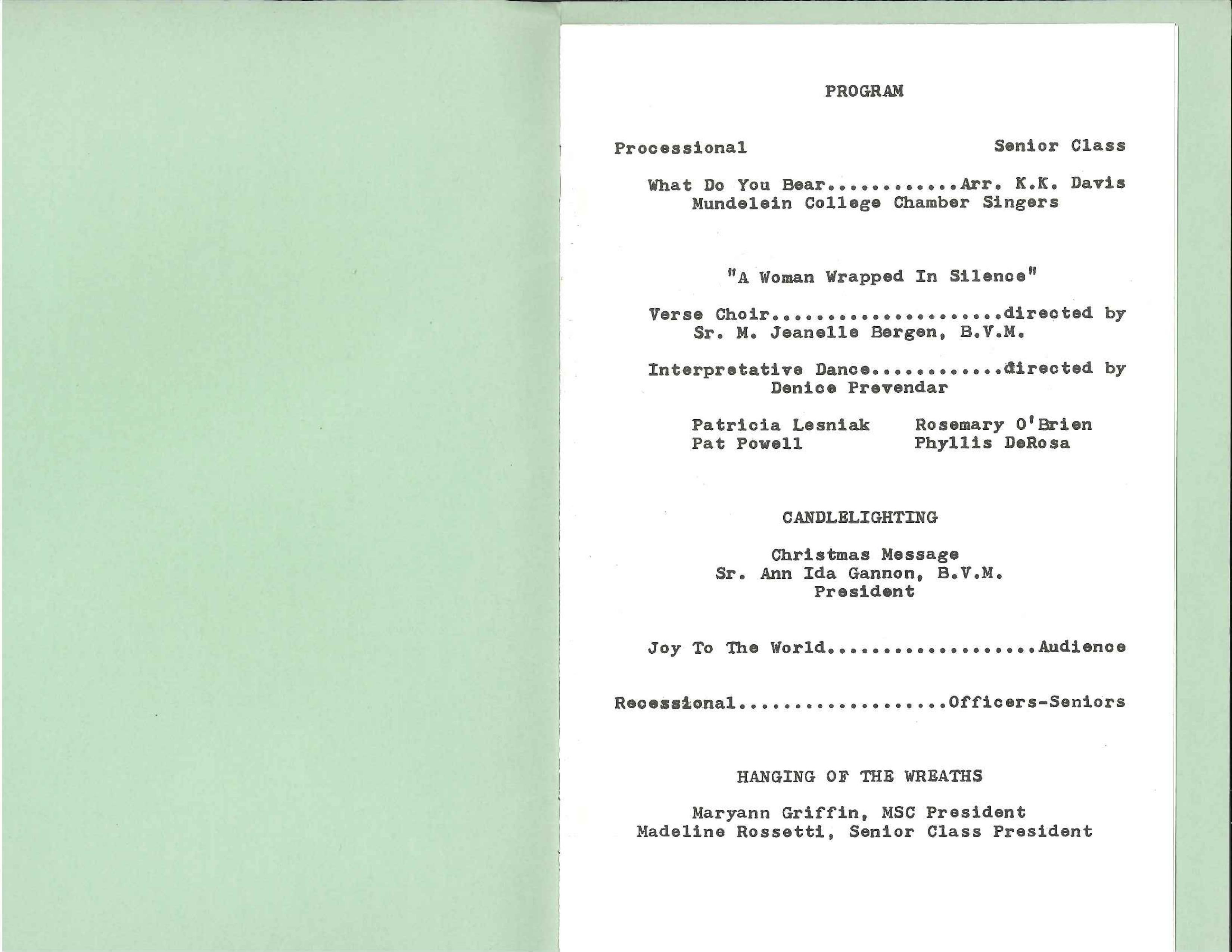 1966 program, page 1