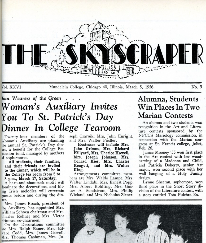 Front page story from the March 5, 1956 issue of the Skyscraper