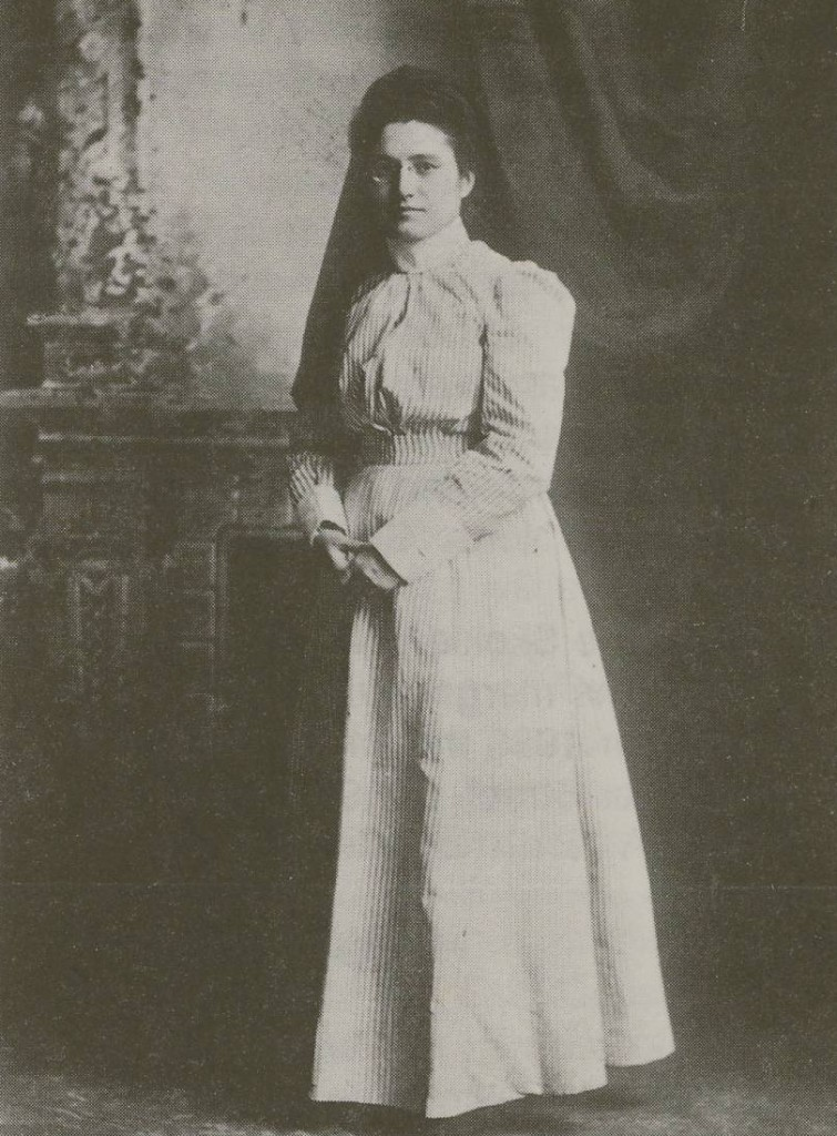 Frances Faltz, the association's first visiting nurse, in her nursing uniform