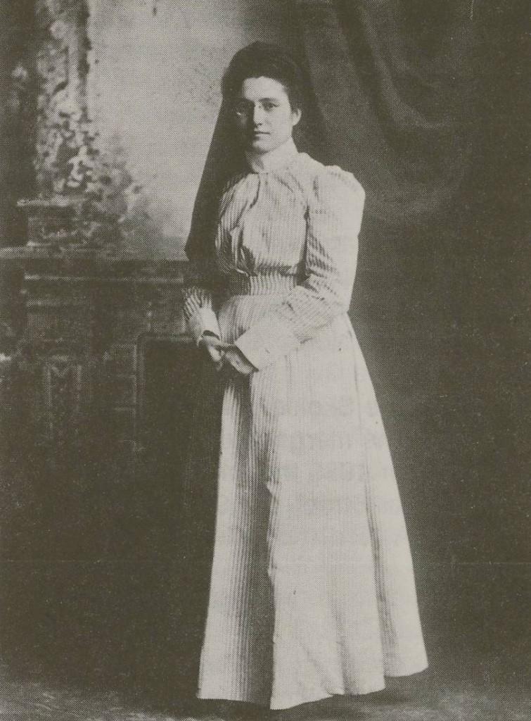 Frances Faltz, the association's first visiting nurse, in her nursing uniform