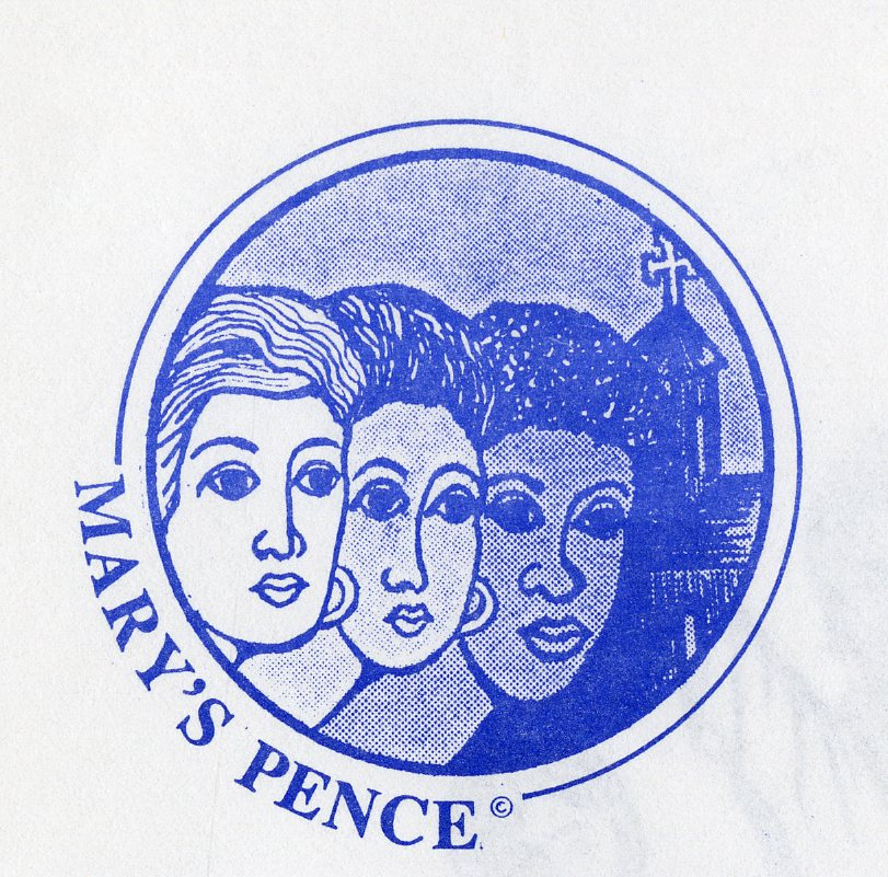 The original logo for Mary's Pence