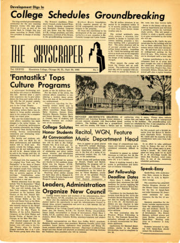 The Skyscraper Vol. XXXVII, Sept. 30, 1966