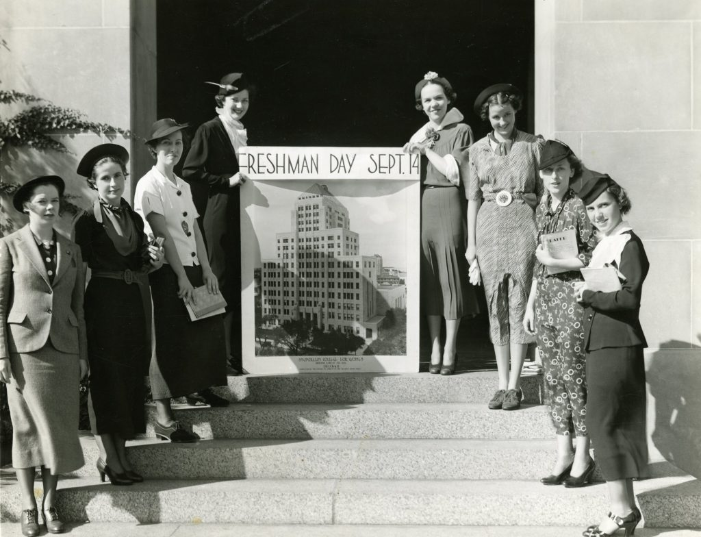 Students advertising Freshman Day, 1936